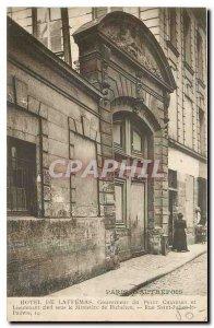 Old Postcard Paris Hotel Laffemas Governor Petit Chatelet