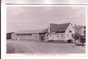 Real Photo, St Augustine's Monastery Minor Seminary, Nova Scotia, Canadian Po...
