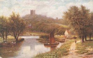 R.F. McIntire. Happy England. Conisborough Castle. Hors Tuck Oilette PC # 9470