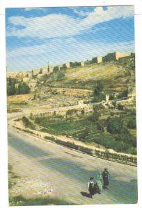 View to the old city, Jerusalem, Israel,40-60s