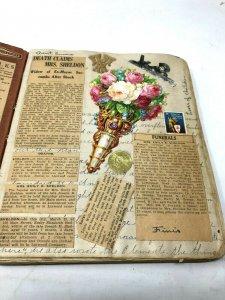 Amazing scrapbook 1900-1930 news horses ephemera photos family war ID: Greene MA
