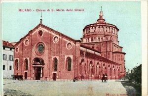CPA Milano Chiesa di S.Maria delle Grazie . ITALY (498863)