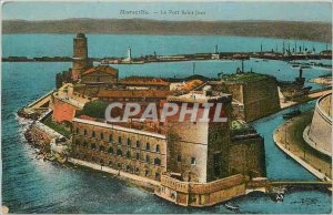 Old Postcard Marseille Fort Saint John October 11, 1939