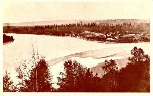 Canada - British Columbia, Quesnel. Village and Sand Bar
