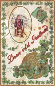 Dear Old Ireland St. Patricks Day Postcard writing on back