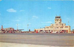 Oklahoma City OK Wil Rogers Municipal Airport Braniff Prop Airplane Postcard