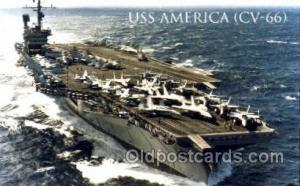 U.S.S. America  Military Aircraft Carrier Unused