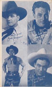 Cowboy Arcade Card Jack Padjeon James Warner Roy Rogers Monte Hall