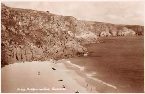 Porthcurno Cove Cornwall Cliffs Beach
