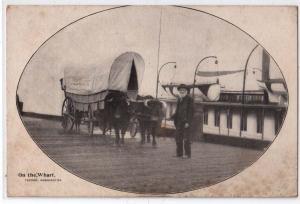 Ezra Meeker, On the Wharf, Tacoma WA, Oregon Trail