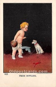 Old Vintage Bowling Postcard Post Card Prize Bowling Unused