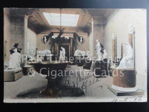 c1906 Derbyshire: Chatsworth House Sculpture Gallery Looking East