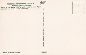NOGALES, Sonora, Mexico, 1950-1960s; Purisima Concepsion Church