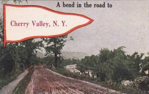 New York Cherry Valley A Bend In The Road To Cherry Valley 1917