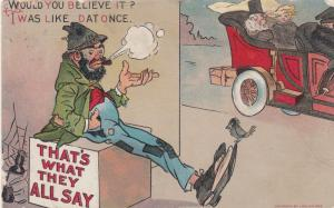 Comic, 1910; Hobo about rich couple,  Would You Believe,I Was Like Dat Once