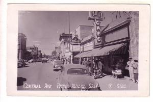 Real Photo, Central Ave, Prince Albert, Saskatchewan, Used 1955