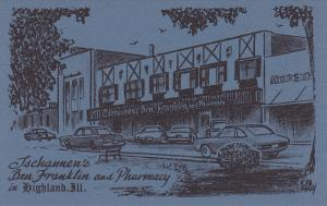 HIGHLANDS , Illinois , 50-60s ; Ben Franklin Store & Pharmacy ( Drug Store) #2