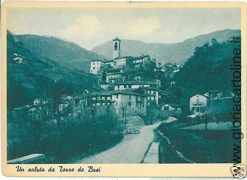 CARTOLINA d'Epoca:  TORRE DE BUSI - LECCO