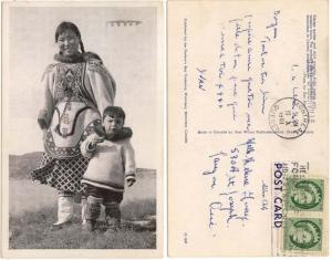 View Card - Eskimo Mother & Child C.G.S. D'Iberville HS