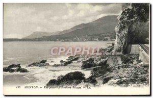 Old Postcard Menton View of Red Rocks Jack