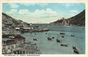 Canada The Narrows St John's Newfoundland postcard