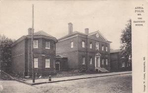 TUCK #2178; ANNAPOLIS , Maryland , 1900-10s; The Harwood House