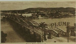 C.1906-1920 Australia Victoria Bridge Brisbane Q.  Unused Vintage Postcard A1