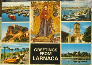 Cyprus Greetings from Larnaca Multi-view - posted 1981