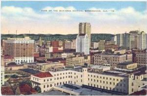 Business Section, Birmingham , Alabama,30-40s