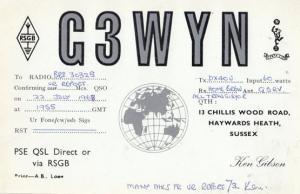 Haywards Heath Sussex Vintage 1950s QSL Amateur Radio Postcard