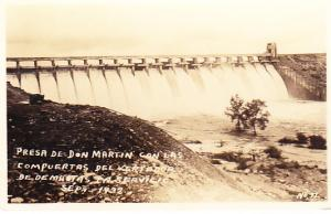 Mexico - Don Martin Dam with Spillways RP 1934