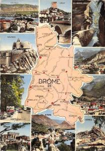 France La Drome Map multiviews Valence Crest Serres Montelimar Grignan