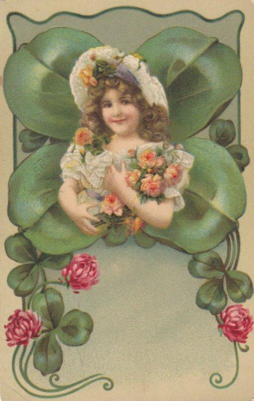 Clover / Shamrock Fantasy Girl , 1909