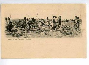 126549 DJIBOUTI Repos d'une Caravane Somalis CAMELS Vintage PC