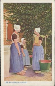 Bij den waterput Zeeland Dutch typical costume