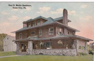 UNION CITY, Pennsylvania, 1900-10s; Paul D. Mullin Residence