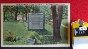 STD Vintage The Grave of Ann Rutledge St. Petersburg Illinois Unposted Linen