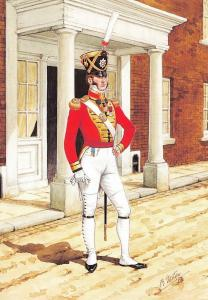 Postcard Coldstream Guards Regiment Officer Foot Guards, London 1821 #29-3