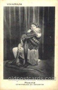 Rosina Snake Woman Postcard Post Card Unused