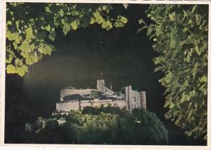 Austria Salzburg Castle At Night