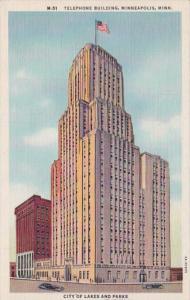 Minnesota MInenapolis Telephone Building 1948 Curteich