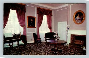 Bardstown Kentucky, My Old Kentucky Home Federal Hill Parlor, Chrome Postcard