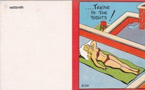 Humour Girl In Bikini Taking In The Sights