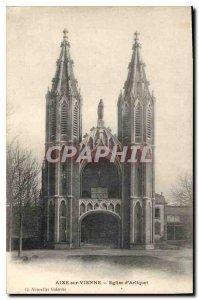 Postcard Old Aixe sur Vienne Church Arliquet