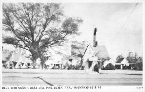 West Side Pine Bluff Arkansas Blue Bird Court Vintage Postcard K90862