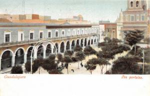 GUADALAJARA JALISCO MEXICO LOS PORTALES POSTCARD 1900s