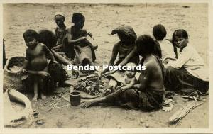 indonesia, SUMATRA, Native Nude Batak Women and Children (1920s) RPPC