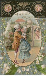 Victorian Couple , A Valentine Message , 1909 ; WINSCH