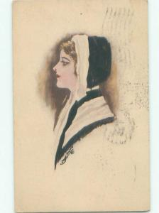 Divided-Back PRETTY WOMAN Risque Interest Postcard AA8077