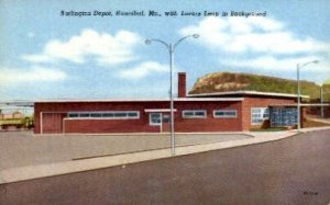 Burlington Depot, Hannibal, Missouri, MO, USA Railroad Train Depot Unused